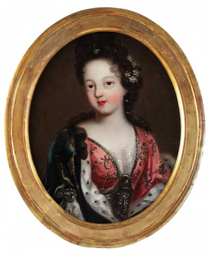A Portrait of a Royal princess - French school of the 17th century