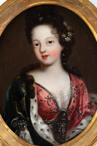 A Portrait of a Royal princess - French school of the 17th century - Paintings & Drawings Style Louis XIV