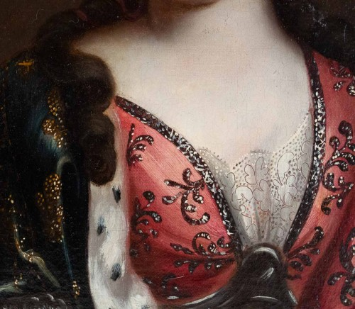A Portrait of a Royal princess - French school of the 17th century -