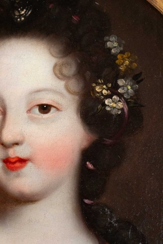 Louis XIV - A Portrait of a Royal princess - French school of the 17th century
