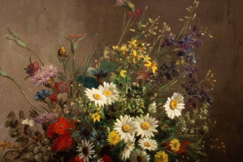Paintings & Drawings  - Eugènie Marie Salanson (1836 - 1912) - : A Bouquet of meadow flowers.
