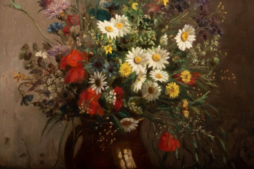 Eugènie Marie Salanson (1836 - 1912) : A Bouquet of meadow flowers. -