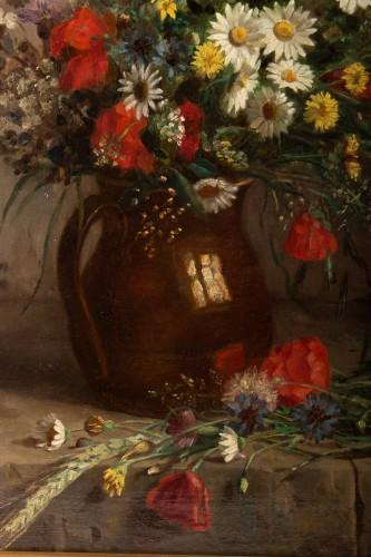 19th century - Eugènie Marie Salanson (1836 - 1912) - : A Bouquet of meadow flowers.
