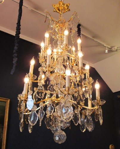 An Important Crystal Louis XV Style Chandellier - Lighting Style