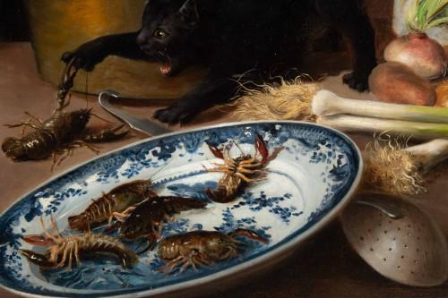 19th century - Alfred Arthur De Brunel de Neuville (1852 - 1941) - The Cats' Meal