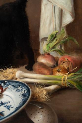 Alfred Arthur De Brunel de Neuville (1852 - 1941) - The Cats' Meal -
