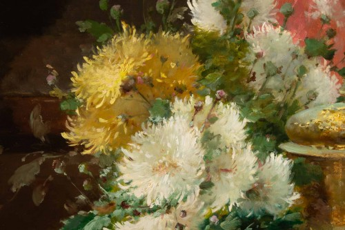- Alfred Godchaux (1835 - 1895) - Still Life With Chrysanthenums.
