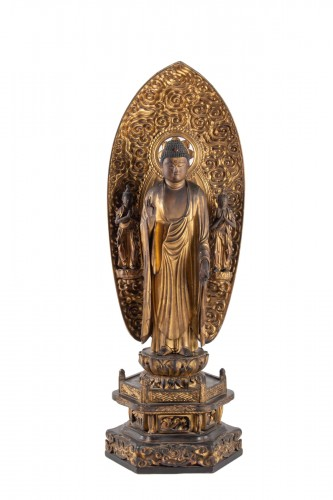 A Statue of Buddha Amida - Japan, Edo period