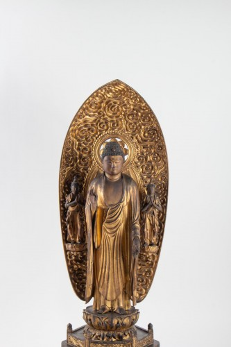 A Statue of Buddha Amida - Japan, Edo period - Asian Art & Antiques Style
