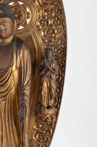 A Statue of Buddha Amida - Japan, Edo period -