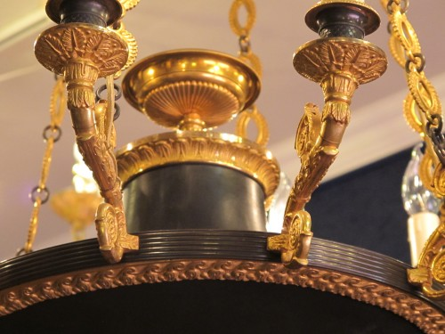 A Napoleon III period chandelier -