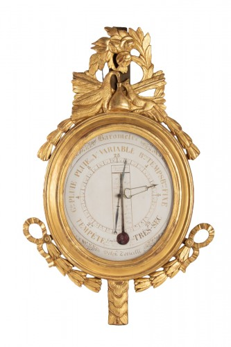 A Louis XVI barometer-thermometer