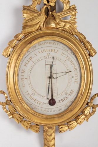 A Louis XVI barometer-thermometer - Decorative Objects Style Louis XVI