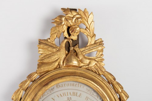 Decorative Objects  - A Louis XVI barometer-thermometer