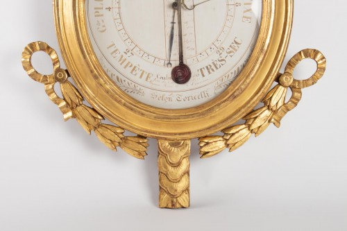 A Louis XVI barometer-thermometer -