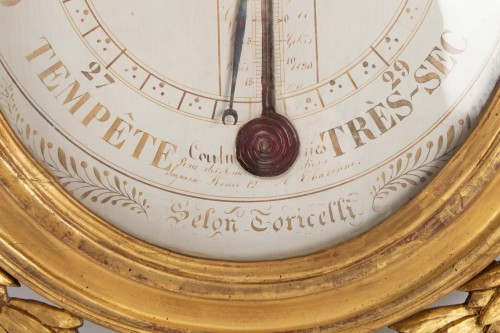 18th century - A Louis XVI barometer-thermometer