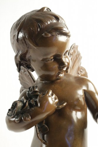 Theodore Ludwig Tholenaar (1848 - 1923) - Putto with a butterfly - Sculpture Style