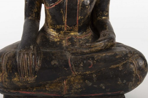 Asian Art & Antiques  - A Statue of Buddha sitting, Thailand 19th century