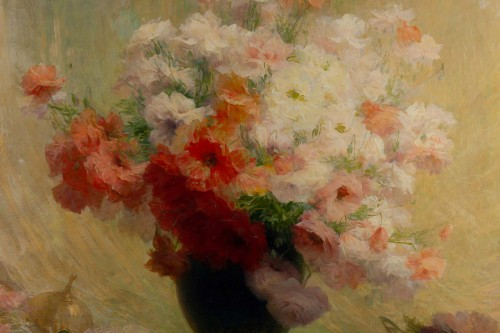 Paintings & Drawings  - Bouquet of flowers - Achille Cesbron (1849-1915)