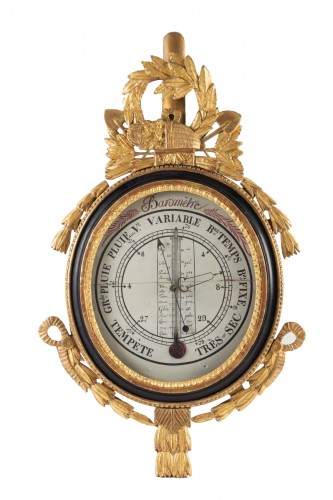 A Louis XVI period (1774 - 1793) barometer - thermometer.