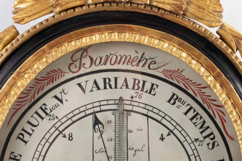 A Louis XVI period (1774 - 1793) barometer - thermometer. - Decorative Objects Style Louis XVI