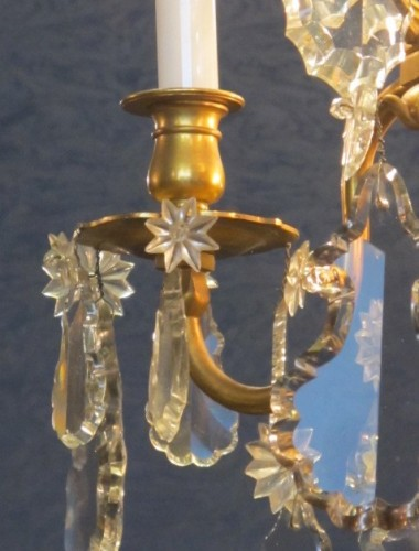 Lighting  - A Louis XV style chandellier from the Napoleon III period (1848 - 1871).