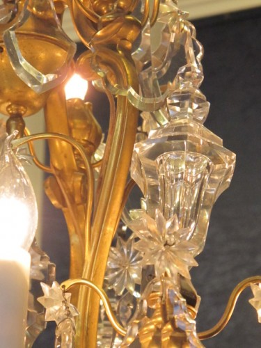 19th century - A Louis XV style chandellier from the Napoleon III period (1848 - 1871).