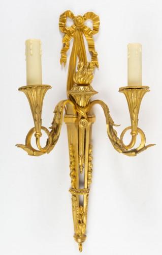 A Pair of Louis XVI style bronze scones. - Lighting Style