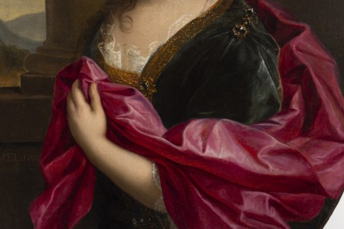 Gabriel Revel (1643-1712) -  Portrait of a Lady - Paintings & Drawings Style Louis XIV