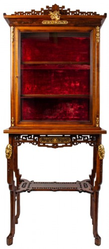A Vitrine-cabinet-on-stand attributed to Gabriel Viardot