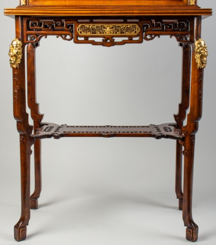 A Vitrine-cabinet-on-stand attributed to Gabriel Viardot - Furniture Style