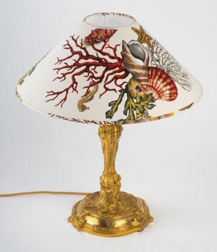 A Napoleon III Lamp candelstick -