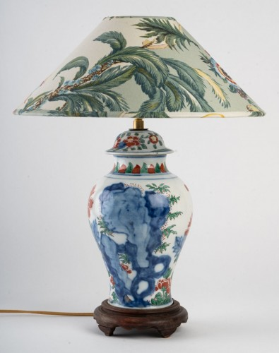 Lighting  - A Chinese Porcelain Lamp