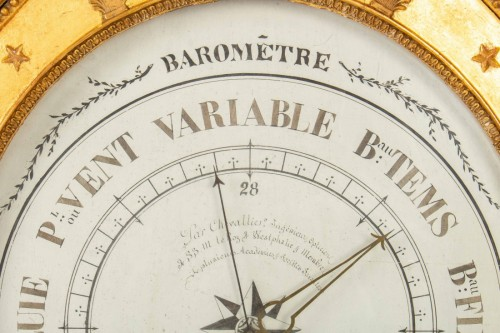 A First Empire period Barometer - Decorative Objects Style Empire