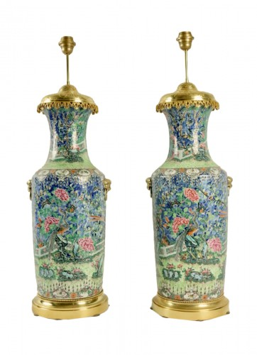 A Napoleon III Pair of Lamps