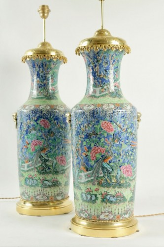 A Napoleon III Pair of Lamps -