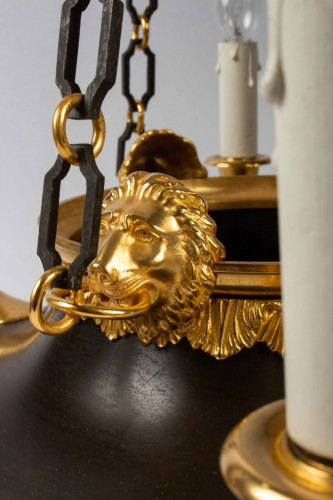 A Chandelier in the First Empire Style -