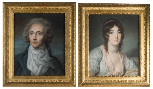 A Pair of portraits, France 1st part of the 19th century