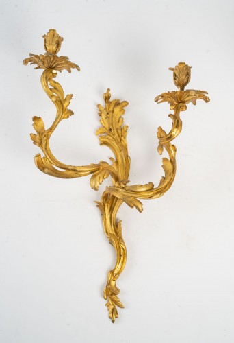 Lighting  - A Pair of wall lights in Louis XV style.