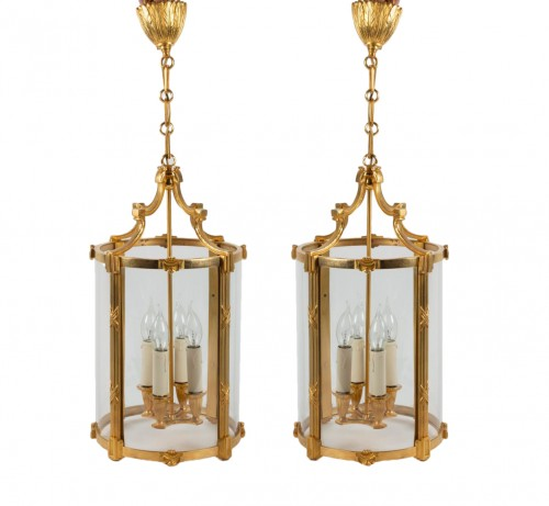 A Pair of Louis XVI style lanterns
