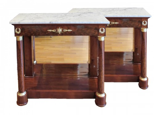 A Pair of 1st Empire (1804 - 1815) console tables.