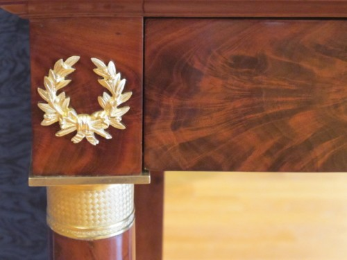 Furniture  - A Pair of 1st Empire (1804 - 1815) console tables.