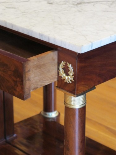 A Pair of 1st Empire (1804 - 1815) console tables. -