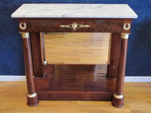 19th century - A Pair of 1st Empire (1804 - 1815) console tables.