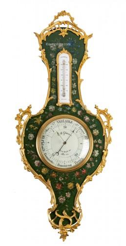 A Napoleon III Barometer - Thermometer
