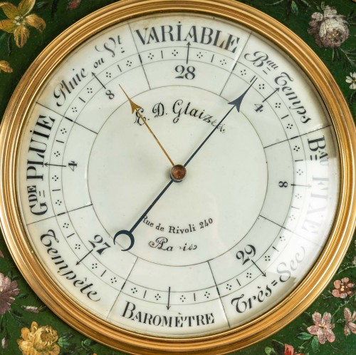A Napoleon III Barometer - Thermometer - Decorative Objects Style