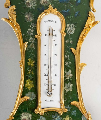 Decorative Objects  - A Napoleon III Barometer - Thermometer