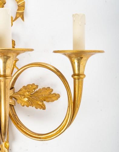 A Pair of Napoleon III wall-lights in Louis XVI style. - Lighting Style Napoléon III
