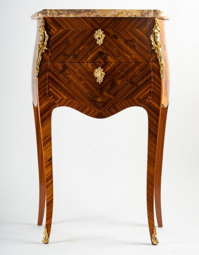 Furniture  - A Pair of bedside tables in Louis XV style