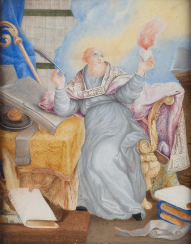 Saint Augustin - French school of the 17th century - Paintings & Drawings Style